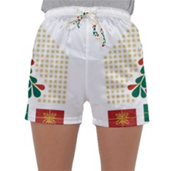 Christmas Tree Present House Star Sleepwear Shorts by Celenk