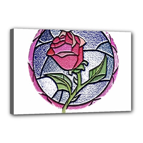 Beauty And The Beast Rose Canvas 18  X 12  by Celenk