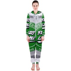 Fresh Taste Fizzy Lime Bottle Cap Hooded Jumpsuit (ladies)
