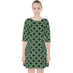 Circles3 Black Marble & Green Denim (r) Pocket Dress by trendistuff