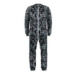 Damask2 Black Marble & Ice Crystals (r) Onepiece Jumpsuit (kids) by trendistuff