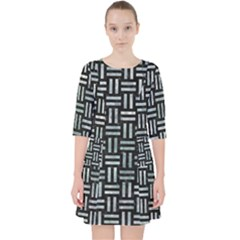 Woven1 Black Marble & Ice Crystals (r) Pocket Dress by trendistuff