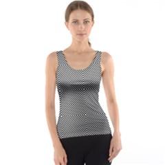 Diagonal Stripe Pattern Seamless Tank Top
