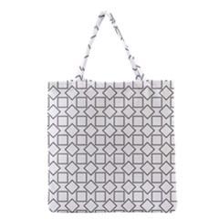 Square Line Stripe Pattern Grocery Tote Bag