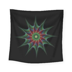 Star Abstract Burst Starburst Square Tapestry (small) by Celenk