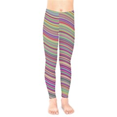 Wave Abstract Happy Background Kids  Legging by Celenk