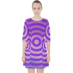 Circle Target Focus Concentric Pocket Dress by Celenk