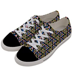 Snowflake Crystal Shapes 3 Women s Low Top Canvas Sneakers by Cveti