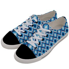 Blue Leaves Eyes Women s Low Top Canvas Sneakers by Cveti