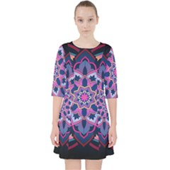Mandala Circular Pattern Pocket Dress by Celenk