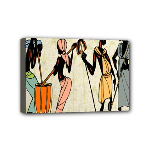 Man Ethic African People Collage Mini Canvas 6  X 4  by Celenk