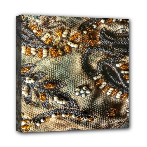 Texture Textile Beads Beading Mini Canvas 8  X 8  by Celenk