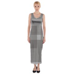 Gray Designs Transparency Square Fitted Maxi Dress