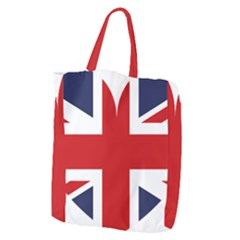 Uk Flag United Kingdom Giant Grocery Zipper Tote by Celenk