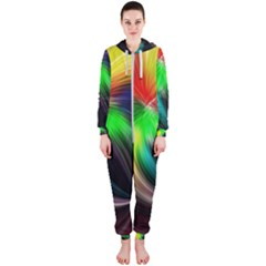 Circle Lines Wave Star Abstract Hooded Jumpsuit (ladies)