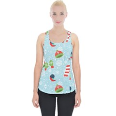 Winter Fun Pattern Piece Up Tank Top by AllThingsEveryone