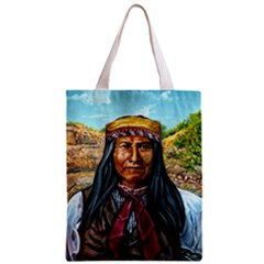 Apache Tribe Warrior Chiricahua Apache Tribe Zipper Classic Tote Bag by allthingseveryone
