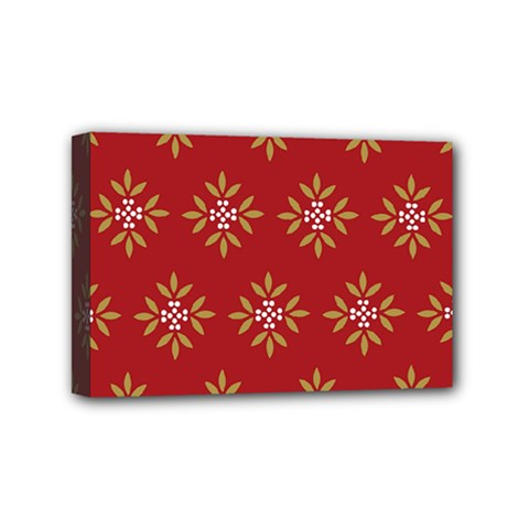 Pattern Background Holiday Mini Canvas 6  X 4  by Celenk