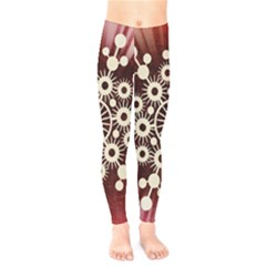 Background Star Red Abstract Kids  Legging by Celenk