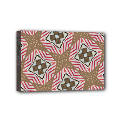 Pattern Texture Moroccan Print Mini Canvas 6  X 4  by Celenk