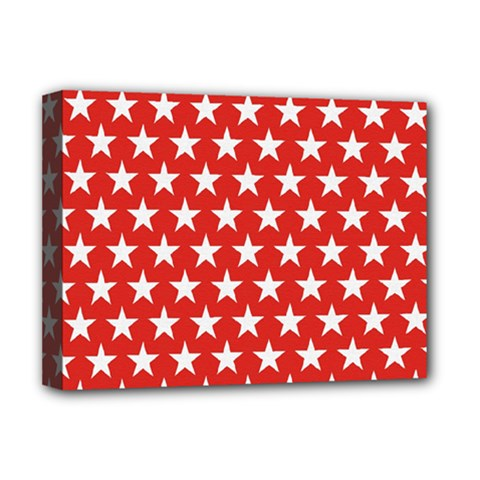 Star Christmas Advent Structure Deluxe Canvas 16  X 12   by Celenk
