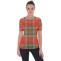 Orange And Green Plaid Short Sleeve Top by allthingseveryone