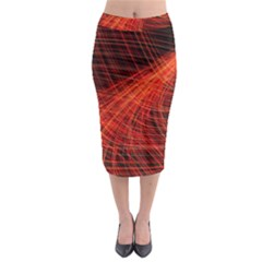 A Christmas Light Painting Midi Pencil Skirt by Celenk