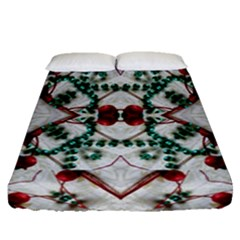 Christmas Paper Fitted Sheet (queen Size)