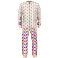 Flower Of Life Pattern 1 Onepiece Jumpsuit (men)  by Cveti
