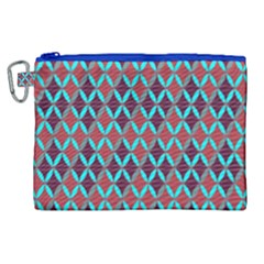 Rhomboids Pattern 2 Canvas Cosmetic Bag (xl) by Cveti