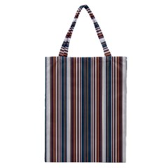 Pear Blossom Teal Orange Brown Coordinating Stripes  Classic Tote Bag