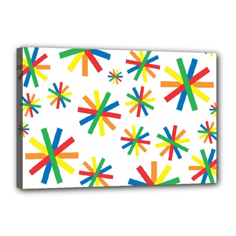 Celebrate Pattern Colorful Design Canvas 18  X 12  by Celenk