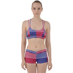American Flag Patriot Red White Women s Sports Set by Celenk