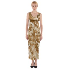Texture Background Backdrop Brown Fitted Maxi Dress
