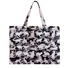 Black And White Catmouflage Camouflage Mini Tote Bag