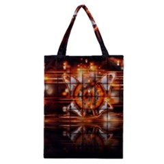 Butterfly Brown Puzzle Background Classic Tote Bag