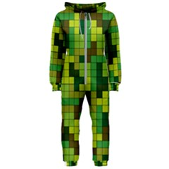 Tetris Camouflage Forest Hooded Jumpsuit (ladies)