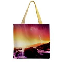 California Sea Ocean Pacific Grocery Tote Bag