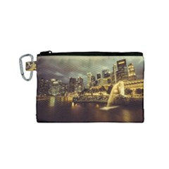 Singapore City Urban Skyline Canvas Cosmetic Bag (small)