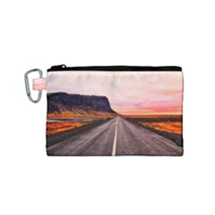 Iceland Sky Clouds Sunset Canvas Cosmetic Bag (small)