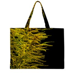 Golden Rod Gold Diamond Zipper Mini Tote Bag