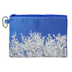 Crown Aesthetic Branches Hoarfrost Canvas Cosmetic Bag (xl)