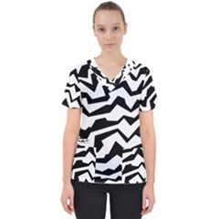 Polynoise Bw Scrub Top by jumpercat