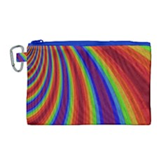 Abstract Pattern Lines Wave Canvas Cosmetic Bag (large) by BangZart