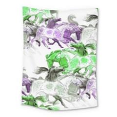 Horse Horses Animal World Green Medium Tapestry