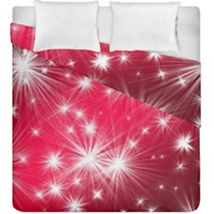 Christmas Star Advent Background Duvet Cover Double Side (king Size)