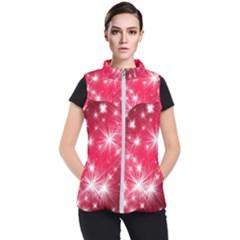 Christmas Star Advent Background Women s Puffer Vest