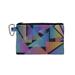 Triangle Gradient Abstract Geometry Canvas Cosmetic Bag (small)