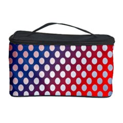 Dots Red White Blue Gradient Cosmetic Storage Case by BangZart
