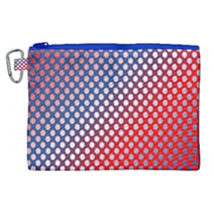 Dots Red White Blue Gradient Canvas Cosmetic Bag (xl) by BangZart